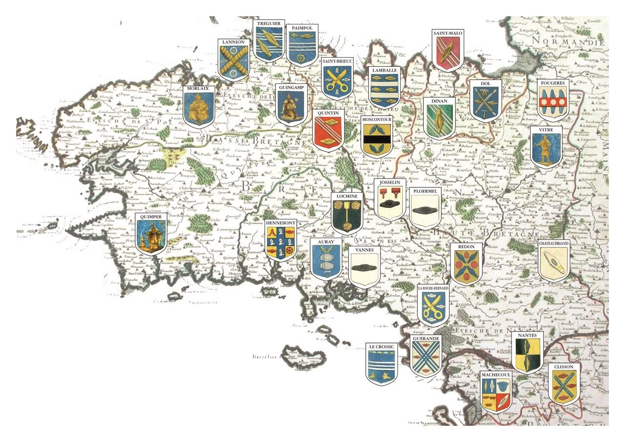 Blasons des tisserands de Bretagne