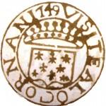 Coin de visite de Locronan an 1749