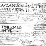 Extrait du registre des tisserands de 1749