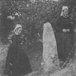 Menhir de Bourlan vers 1900