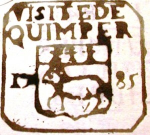 Coin de visite de Quimper an 1785