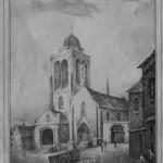 L'église en 1836, E. Guieysse