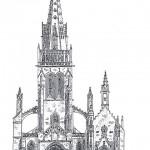 L'église avant 1808, par Hervé le Bihan