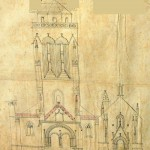 Plan de l'église en 1843