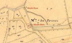 Le moulin du Prieuré en 1847