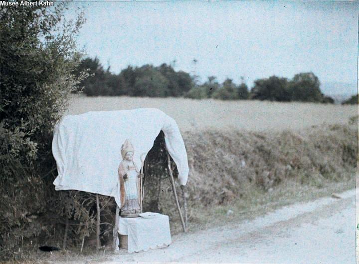 Hutte de St-Corentin - Autochrome Roger Dumas - 1929