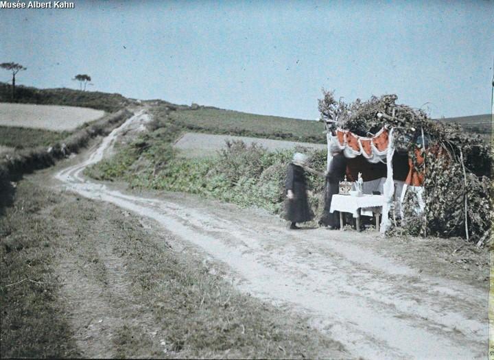 Hutte St-Thurien - Autochrome Roger Dumas - 1929