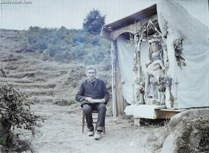 Hutte N-D de pitié - Autochrome Roger Dumas - 1929