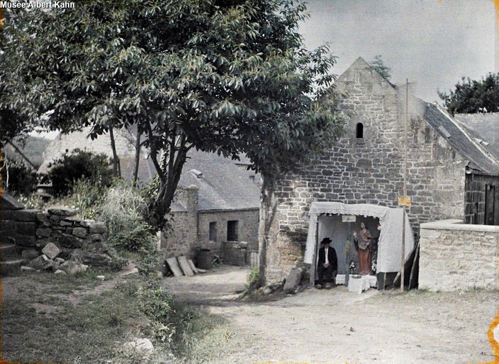 Hutte de St Guénolé - Autochrome Roger Dumas - 1929