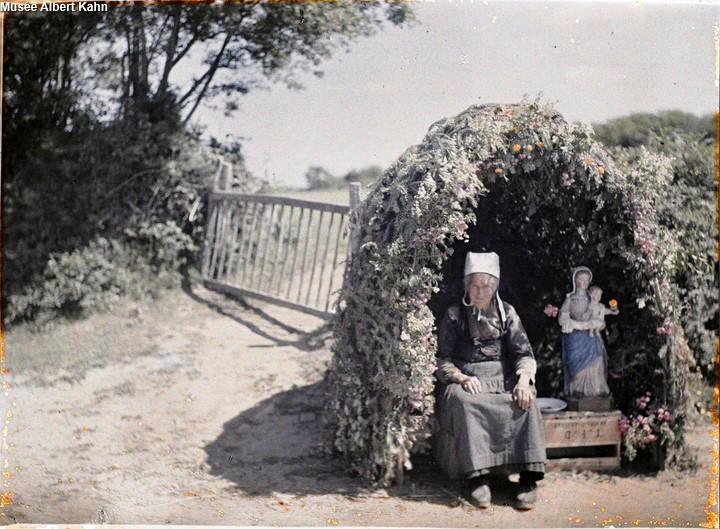 Hutte Notre dame de Bonne-Nouvelle - Autochrome Roger Dumas - 1929