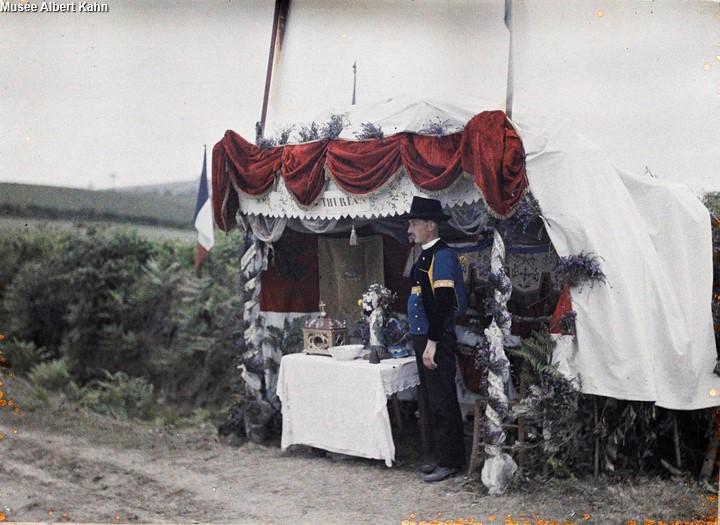 Hutte de St Thurien - Autochrome Roger Dumas - 1929