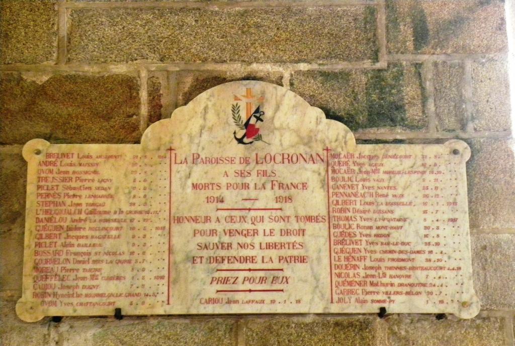 Plaque commémorative de la paroisse