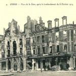 Gare d'Arras, après les bombardements d'octobre 1914
