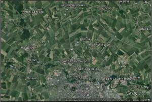 La zone de front au nord d'Arras en mai-juin-juillet 1915