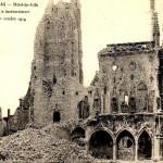 L'Hôtel de Ville d'Arras, après les bombardements d'octobre 1914