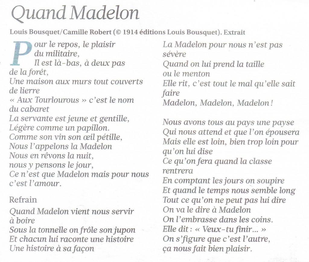 Quand Madelon