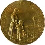 Journée des orphelins 1916 Métal / 32x35mm