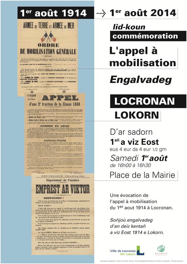 Affiche Commémoration du 1er août 2014 - © Fañch LE HENAFF