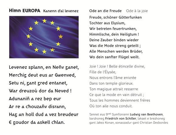 himn EUROPA - Kanenn d'al levenez