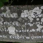 Plaque inaugurale chapelle du souvenir