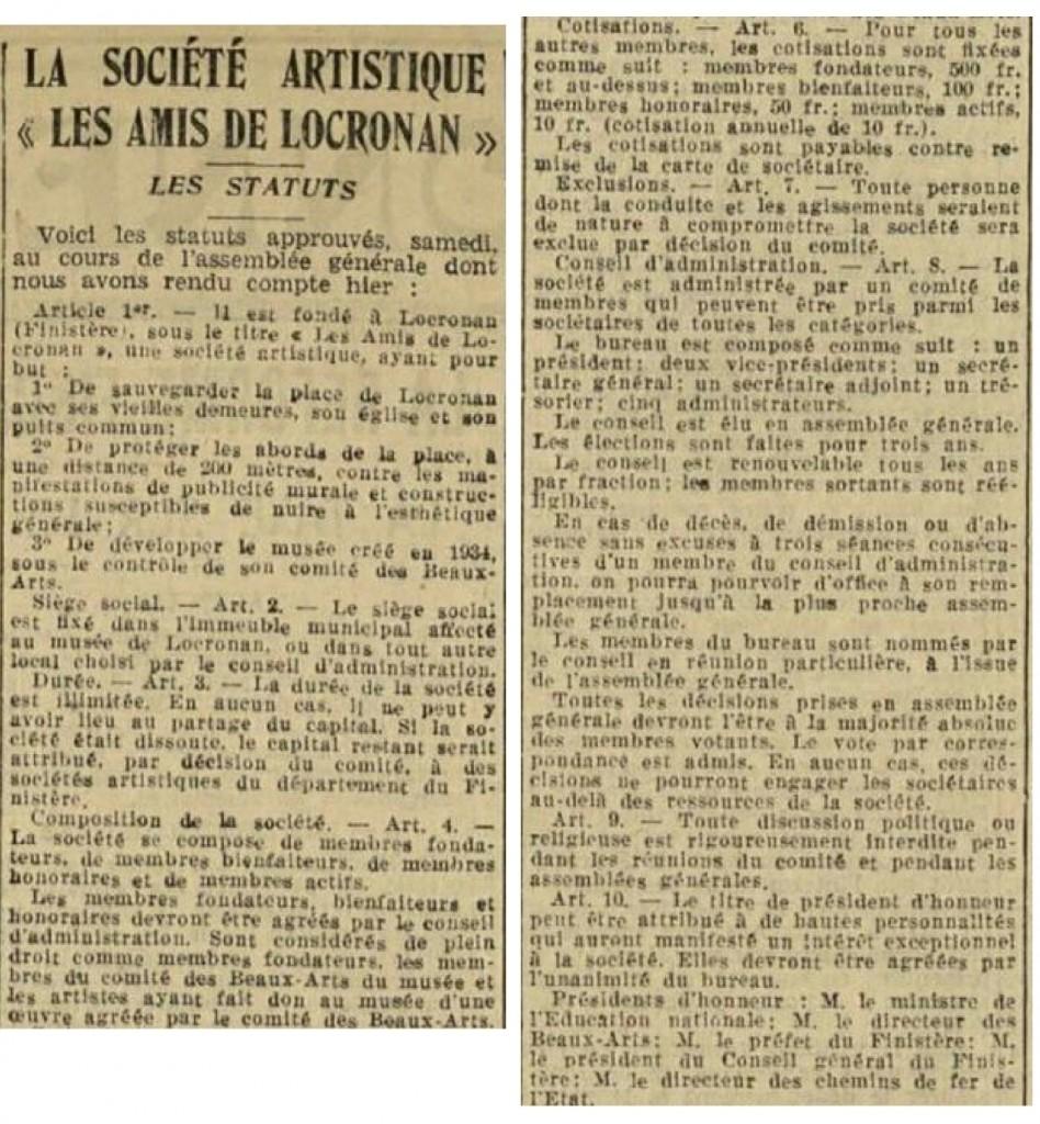 La Dépêche. 27 août 1934