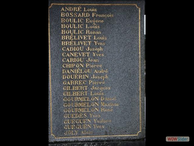 Enfants de Locronan morts pour la France