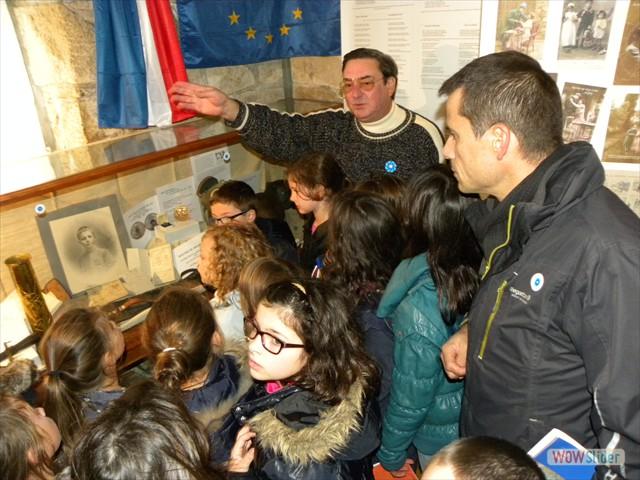 Visite des enfants de l'école Anne de Bretagne
